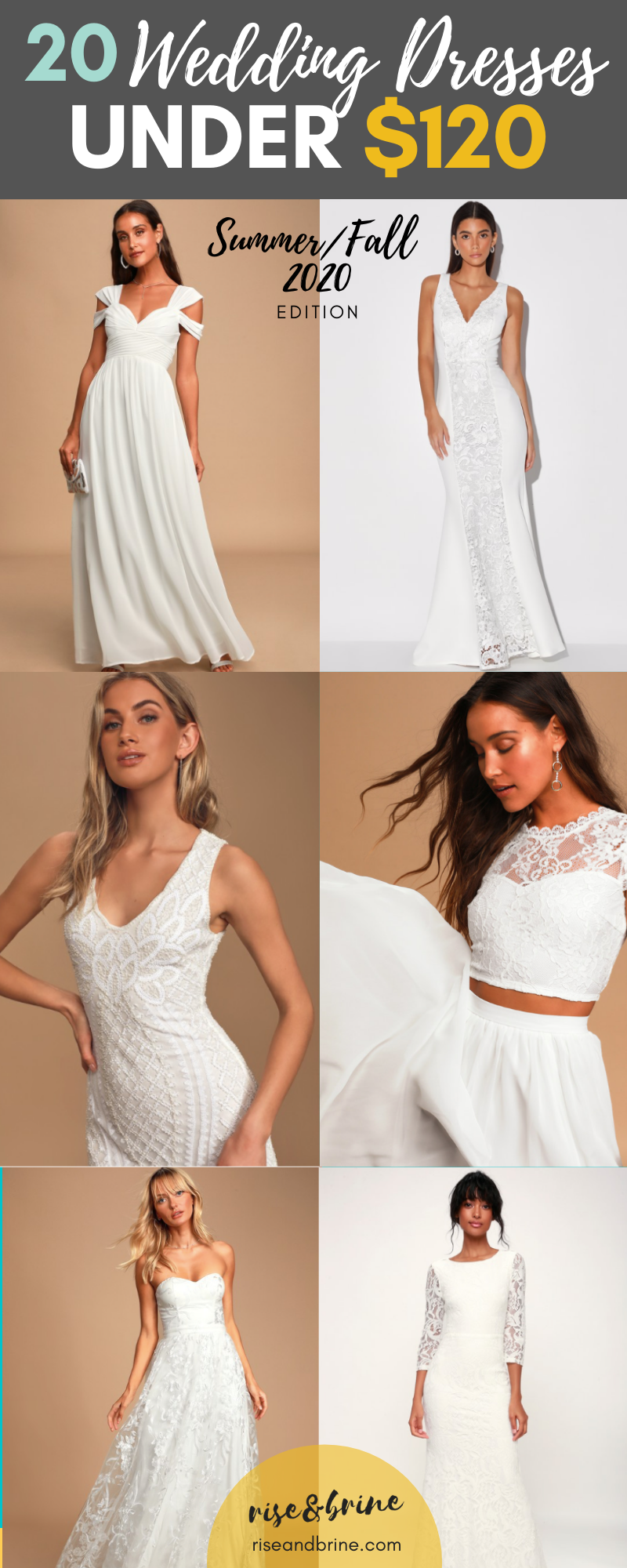 20 wedding dresses under $120 - Summer 2020 Edition