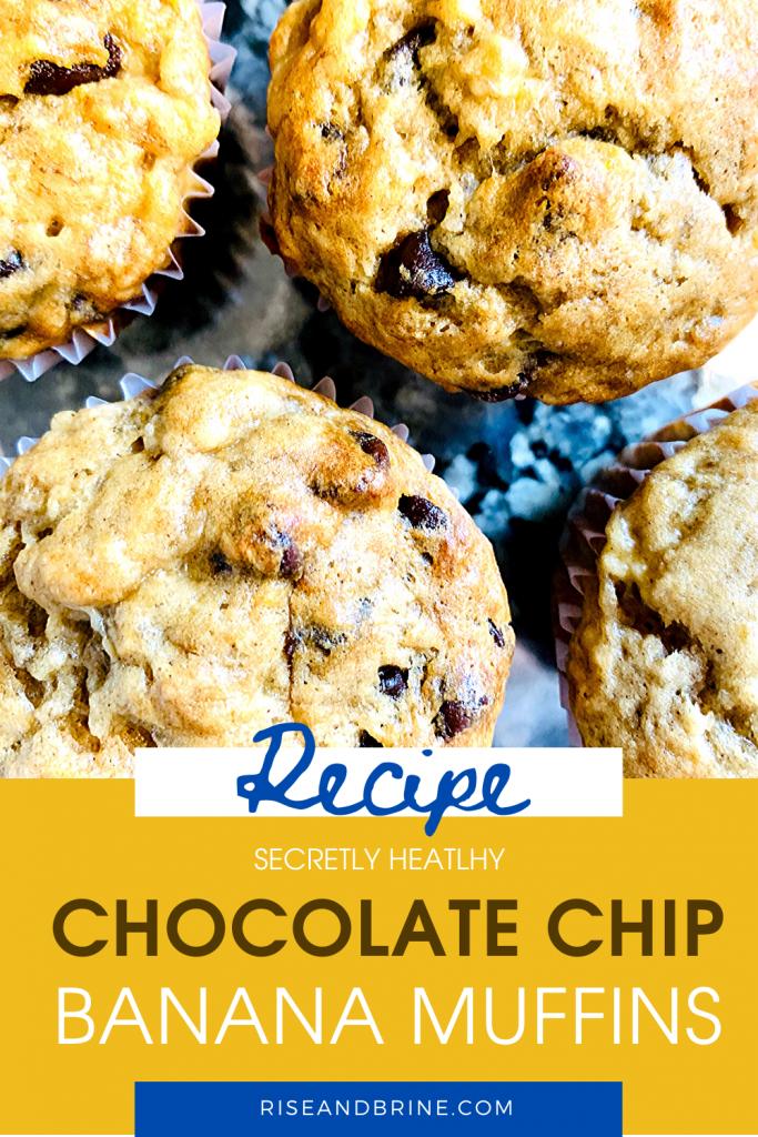 Chocolate Chip Banana Muffins Pin