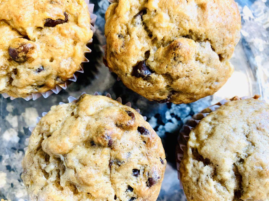 Healthy Chocolate chip banana muffins