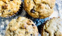 Secretly Healthy Chocolate Chip Banana Muffins